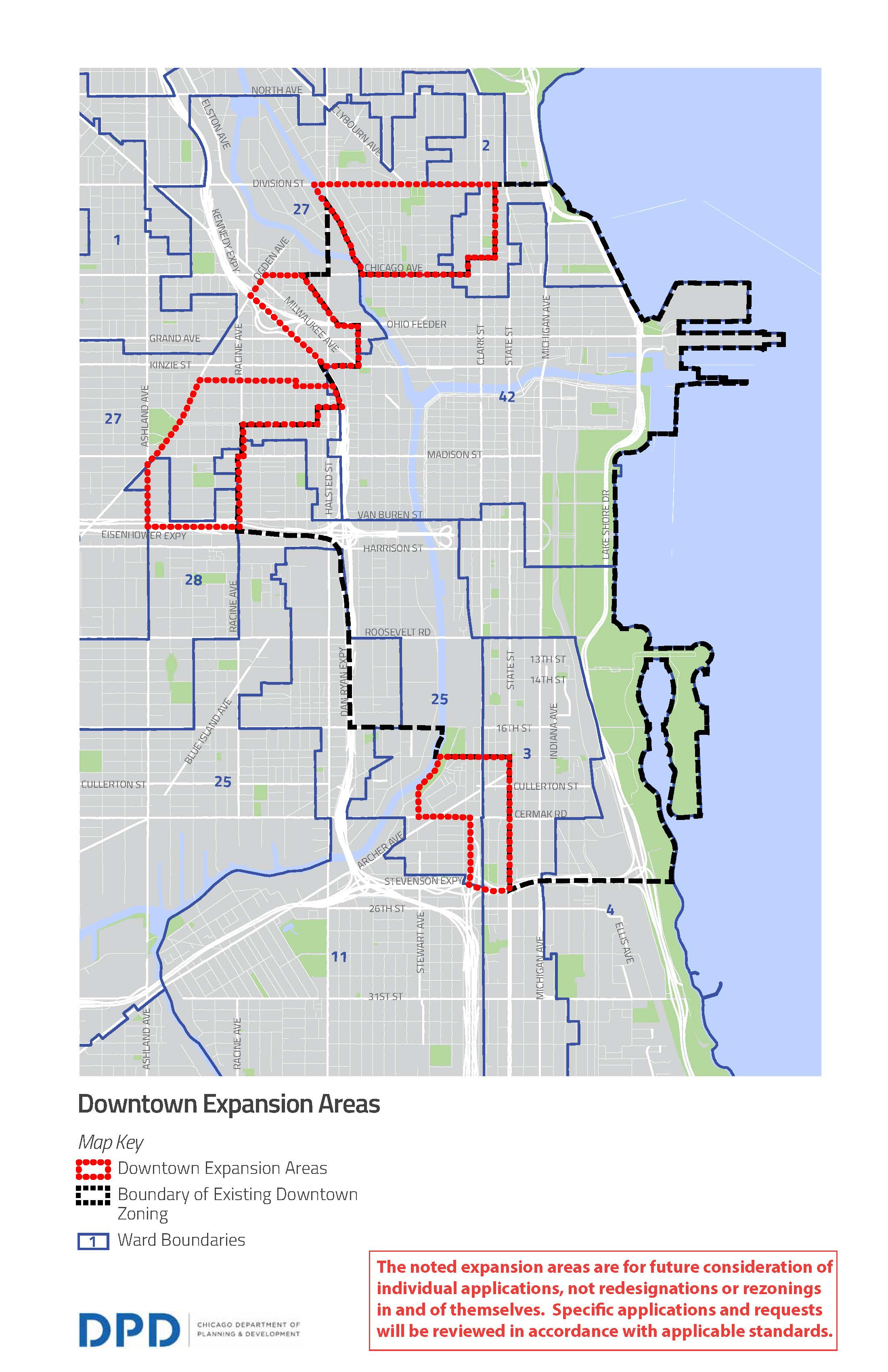 City Of Chicago Neighborhood Opportunity Bonus Leveraging - Downtown chicago map pdf