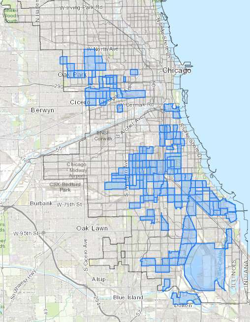 Census tracts for opportunity zones