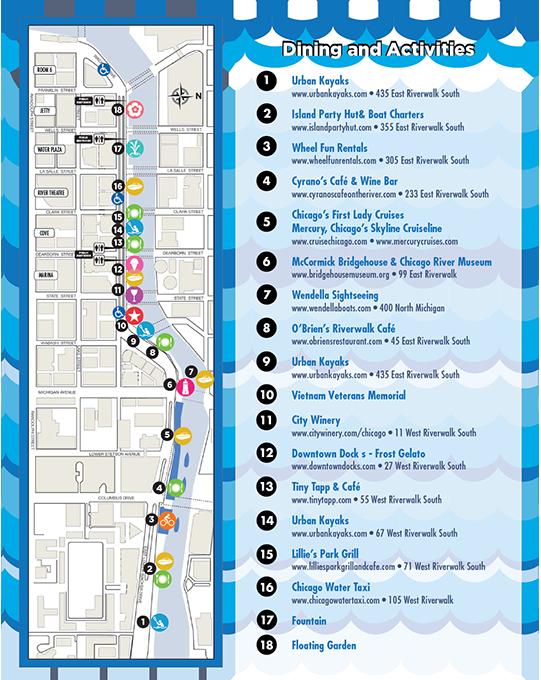 City of Chicago  Chicago Riverwalk