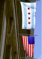 City of Chicago flag Image