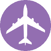 Purple Airplane Logo
