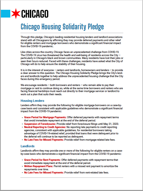 Housing Pledge