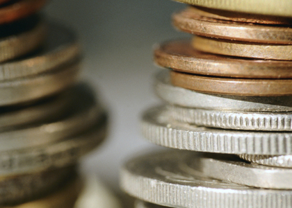 Photo of stack of coins