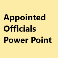 Appointed Officials Power Point