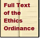 Governmental Ethics Ordinance