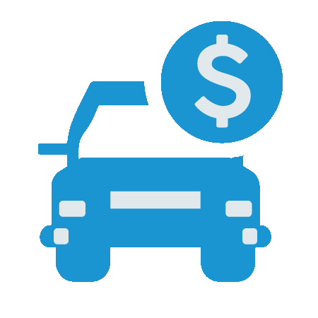 car and dollar image