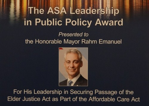 Mayor Emanuel Award Photo
