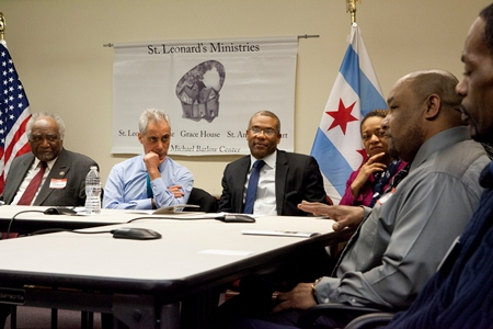 St. Leonard's Ministries meeting with Mayor Rahm Emanuel