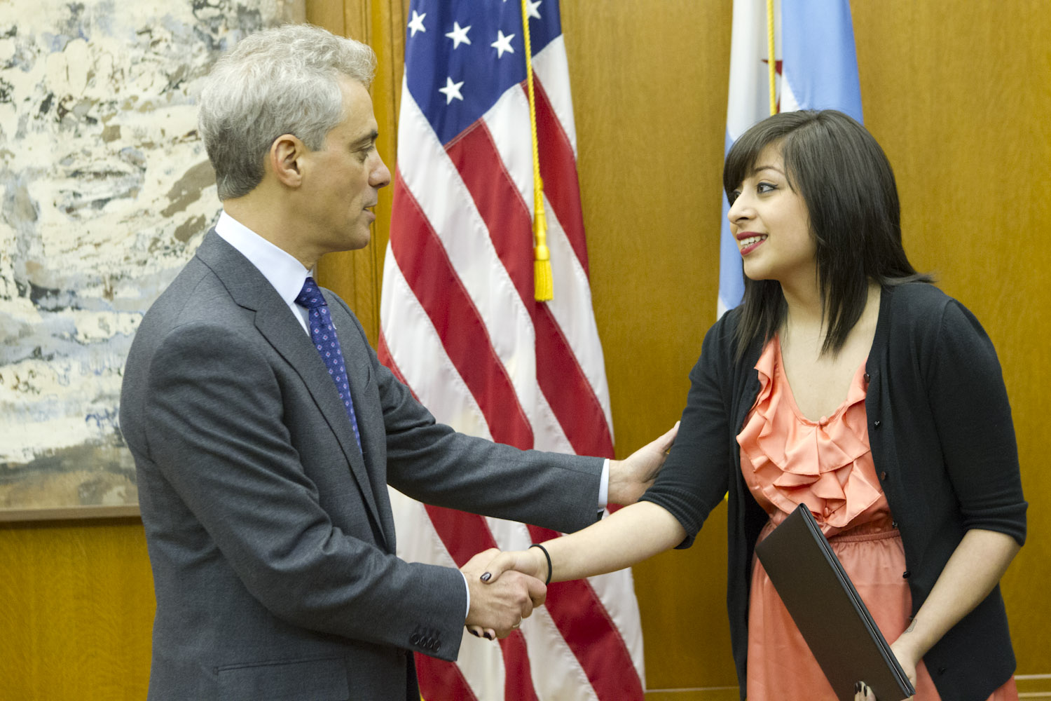 Mayor Emanuel Recognizes Chicago College Student Ariel Aguilera for Civic Leadership and Highlights the Importance of Volunteerism