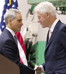 President Clinton and Mayor Emanuel