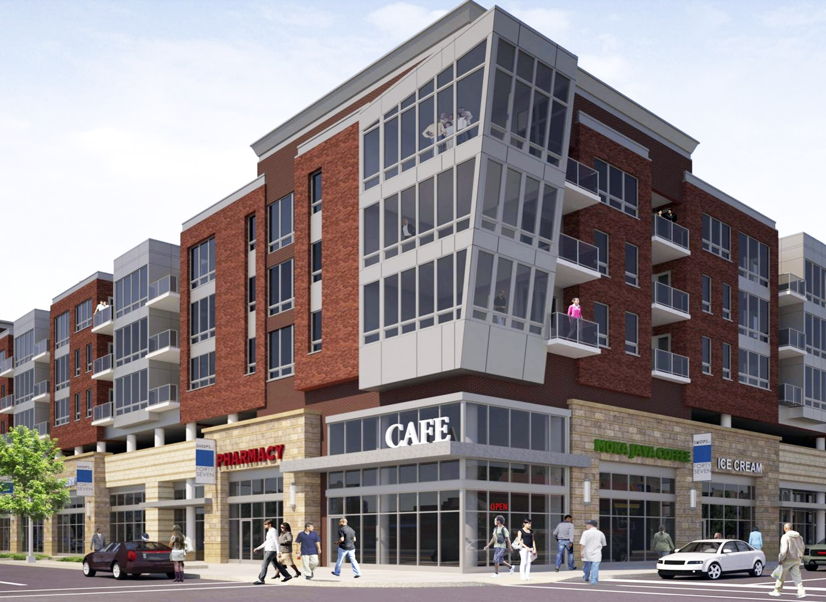 City Of Chicago Mayor Emanuel Celebrates Groundbreaking Of 47th Street Shops And Lofts In