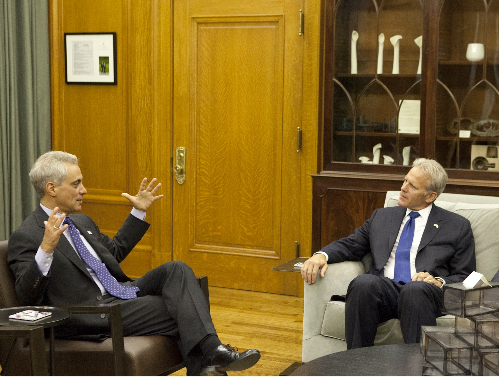 Mayor Emanuel Welcomes Michael Oren, Israel Ambassador to the United States