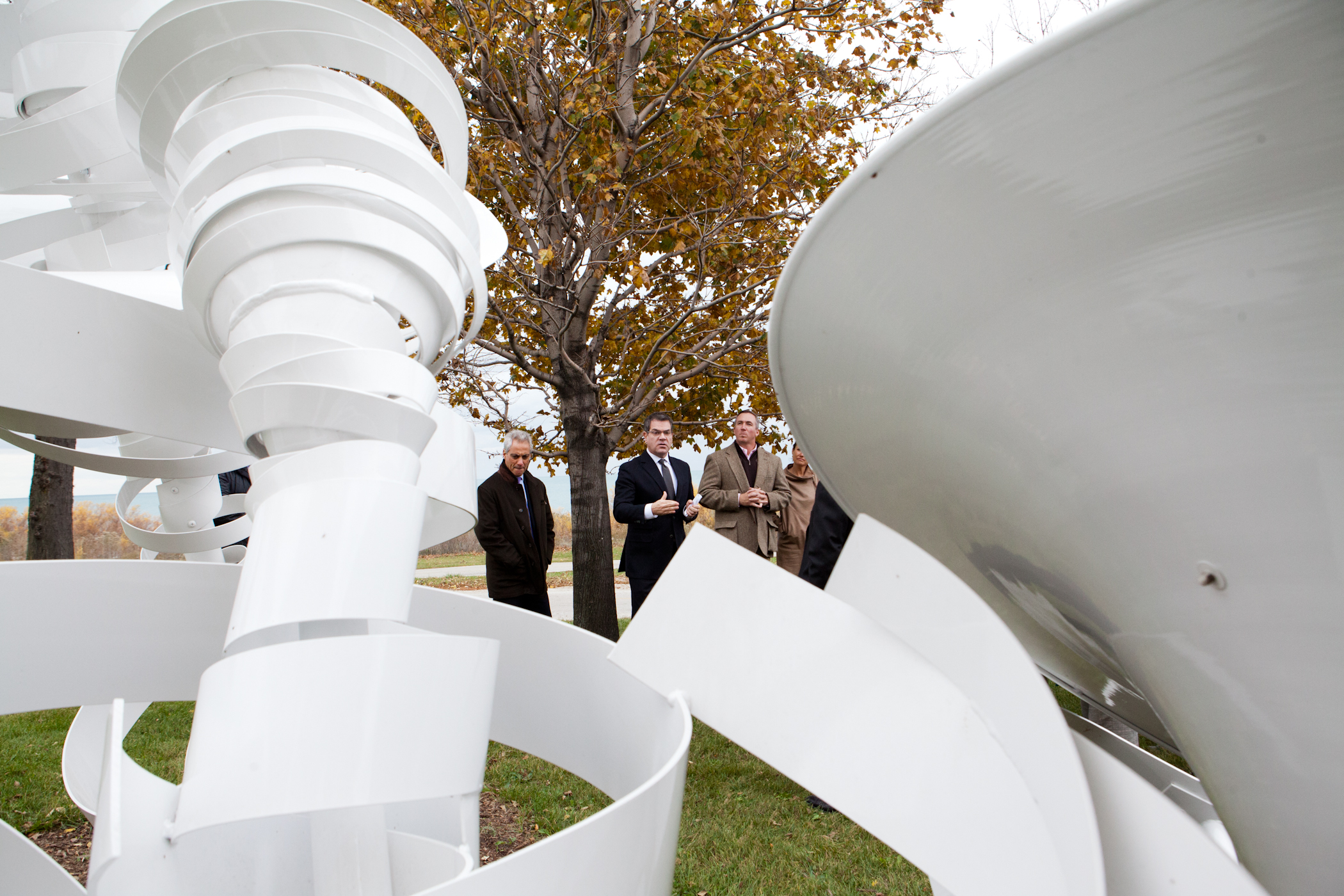 Mayor Emanuel Joins Members of Arts Community on Tour Of Newly Installed Public Art Along Lakefront