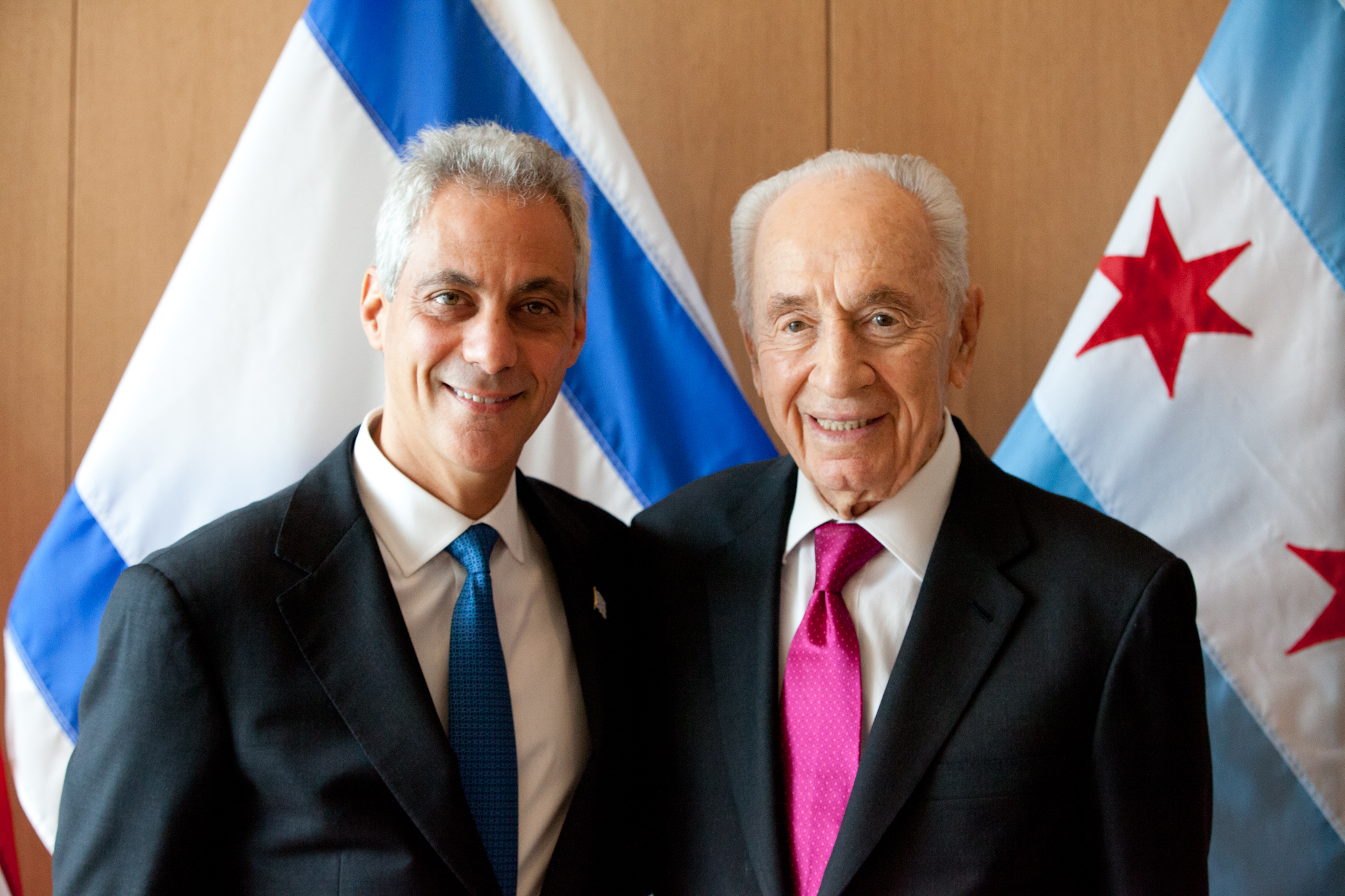 Mayor Emanuel Welcomes Former President of the State of Israel Shimon Peres to Chicago.