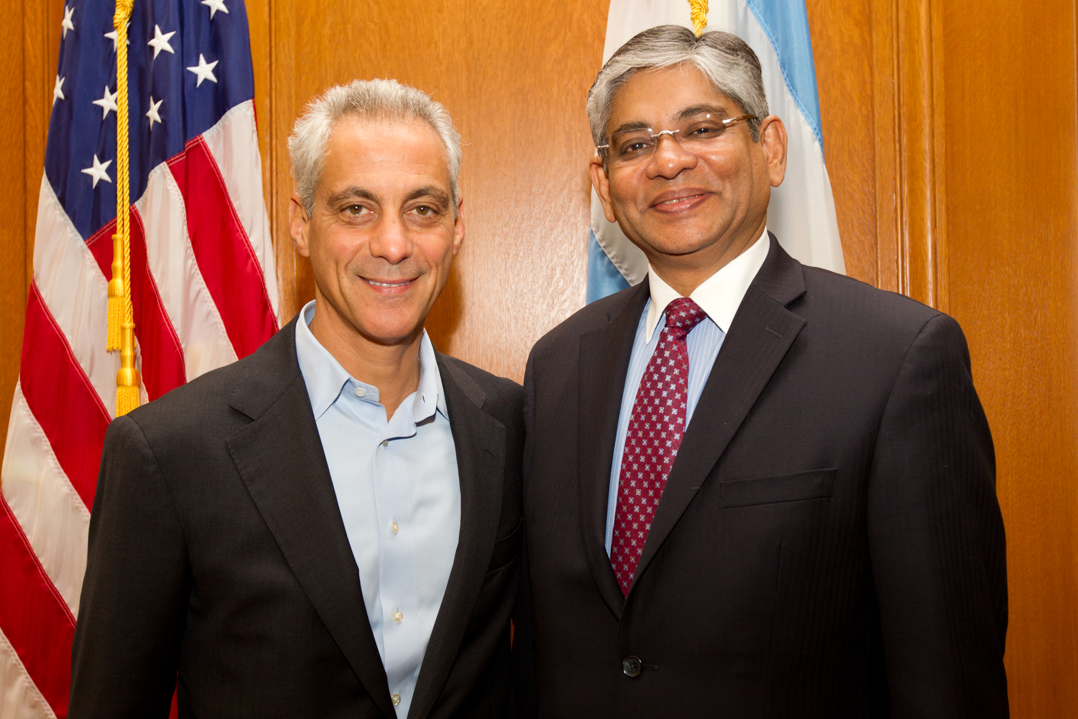 Mayor Emanuel Welcomes The Ambassador Of The Republic Of India, Arun Kumar Singh To Chicago