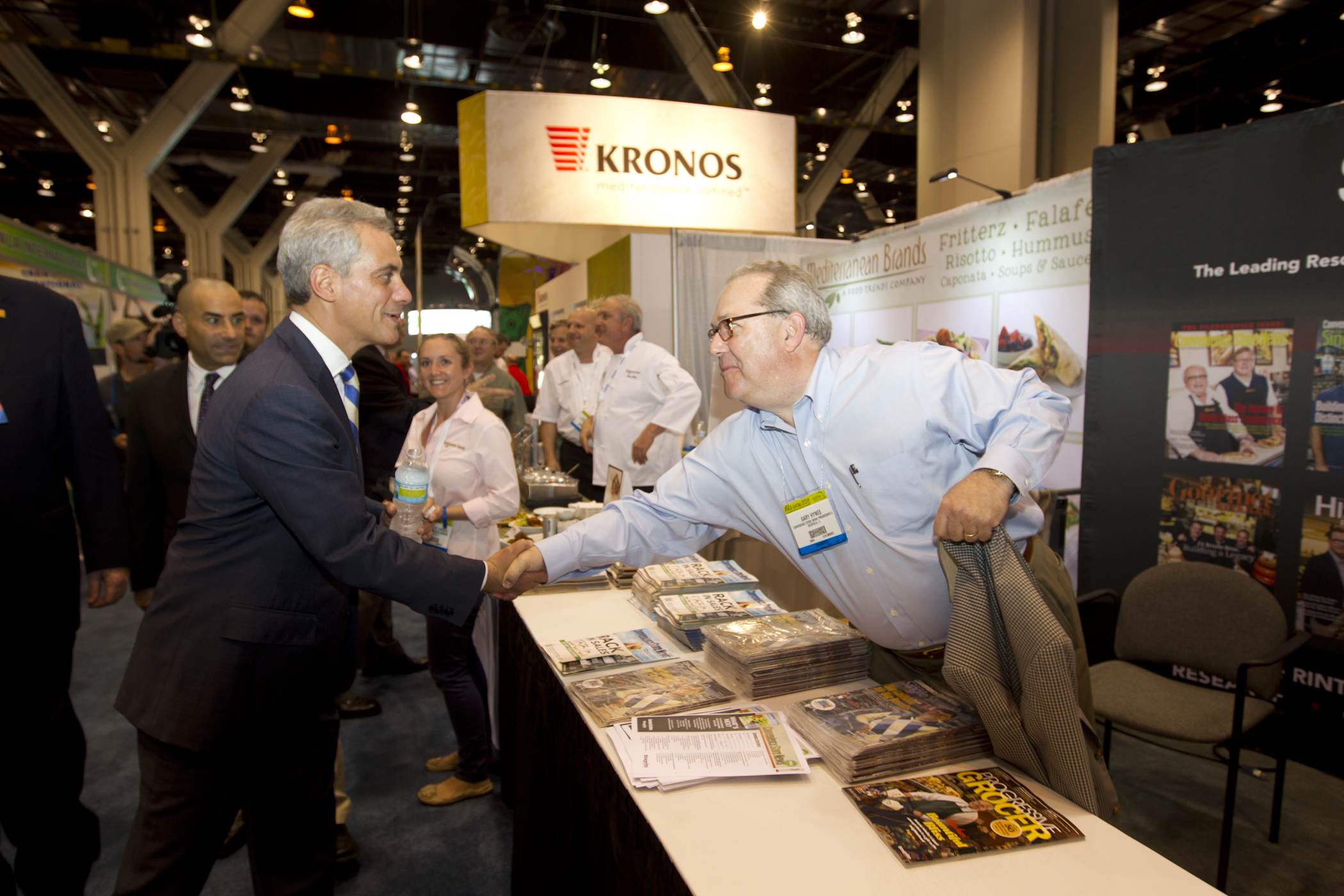 Mayor Emanuel Greets Attendees and Exhibitors at the National Restaurant Association Hotel Motel Show