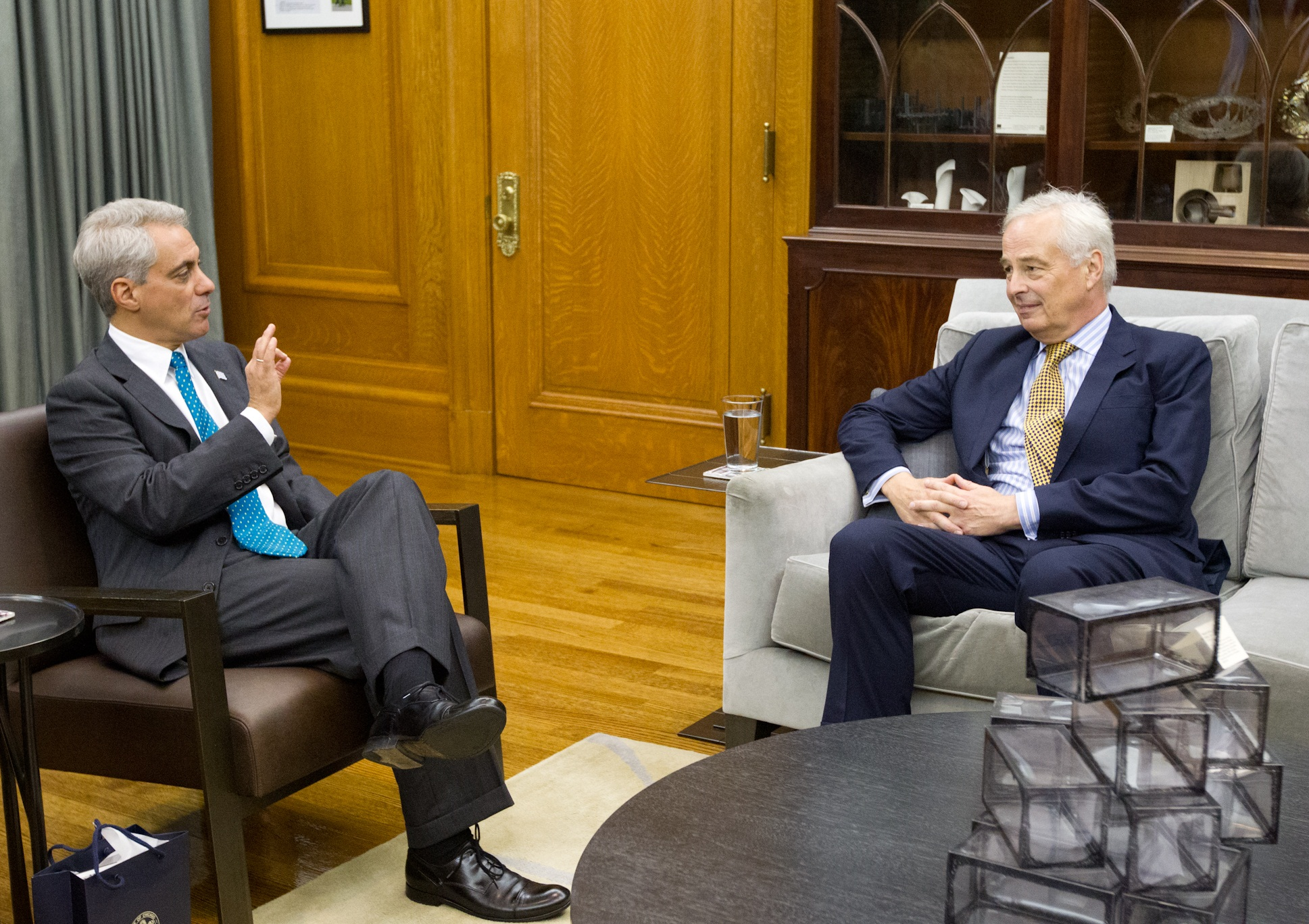 Mayor Emanuel Welcomes Rudolf Bekink, Dutch Ambassador to the United States