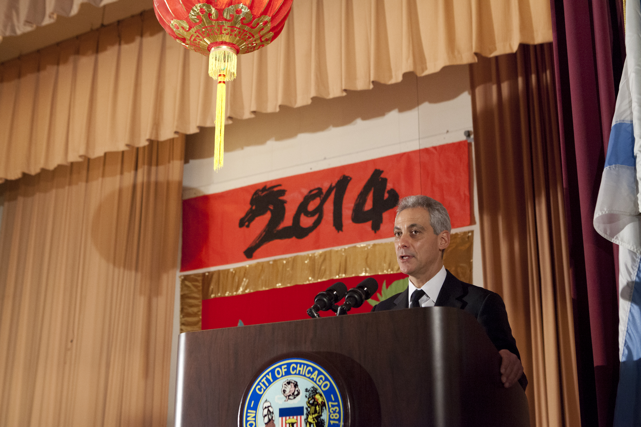 Mayor Emanuel joins community members and students from Robert Healy Elementary School to celebrate the Chinese Lunar New Year and bring in the year of the Horse