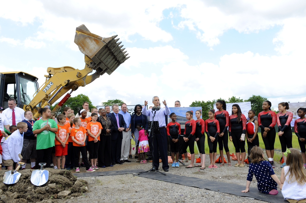 Mayor Emanuel, Chicago Park District Break Ground On Morgan Park, Beverly Sports Center