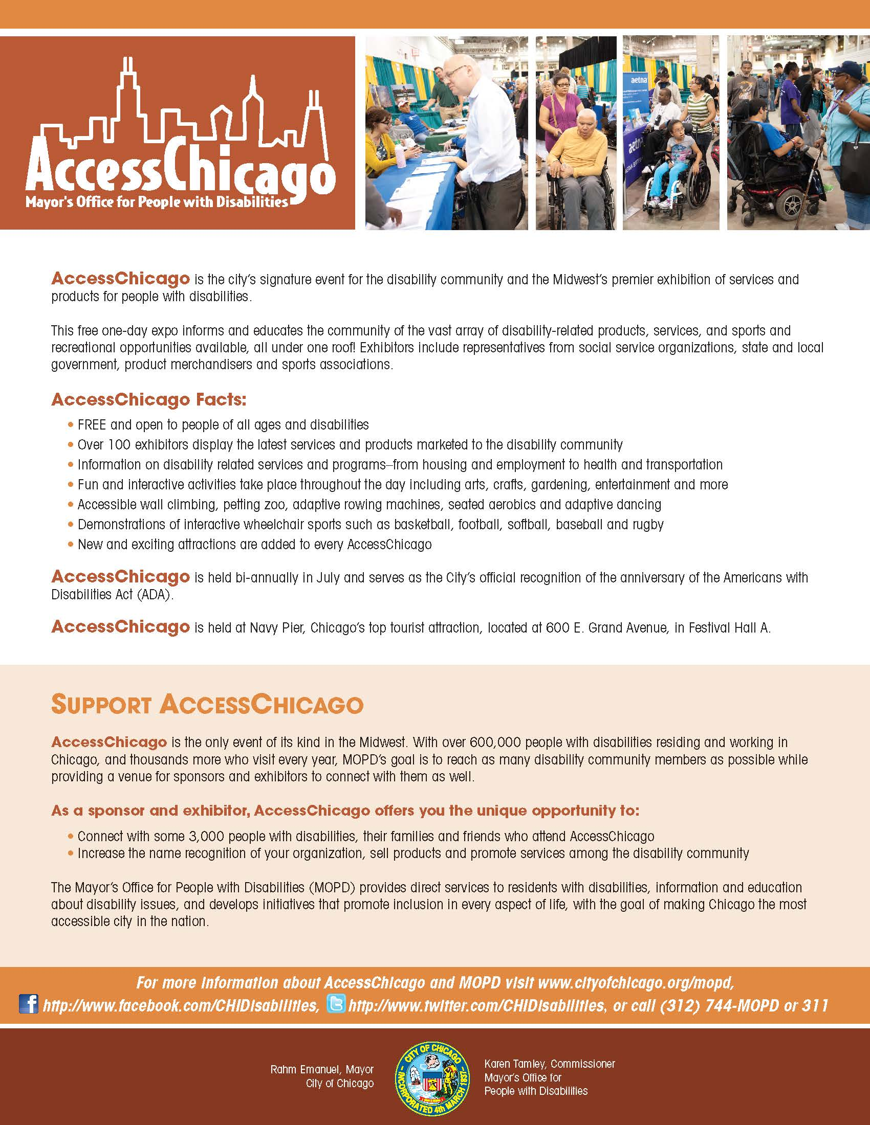 Access Chicago Fact Sheet