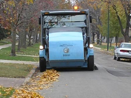 City of Chicago Street Sweeping Truck