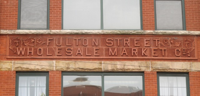 Building text, Fulton-Randolph Market District
