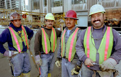 A bunch of tradesmen