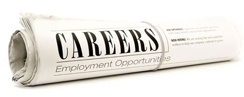 Newspaper with Job Openings