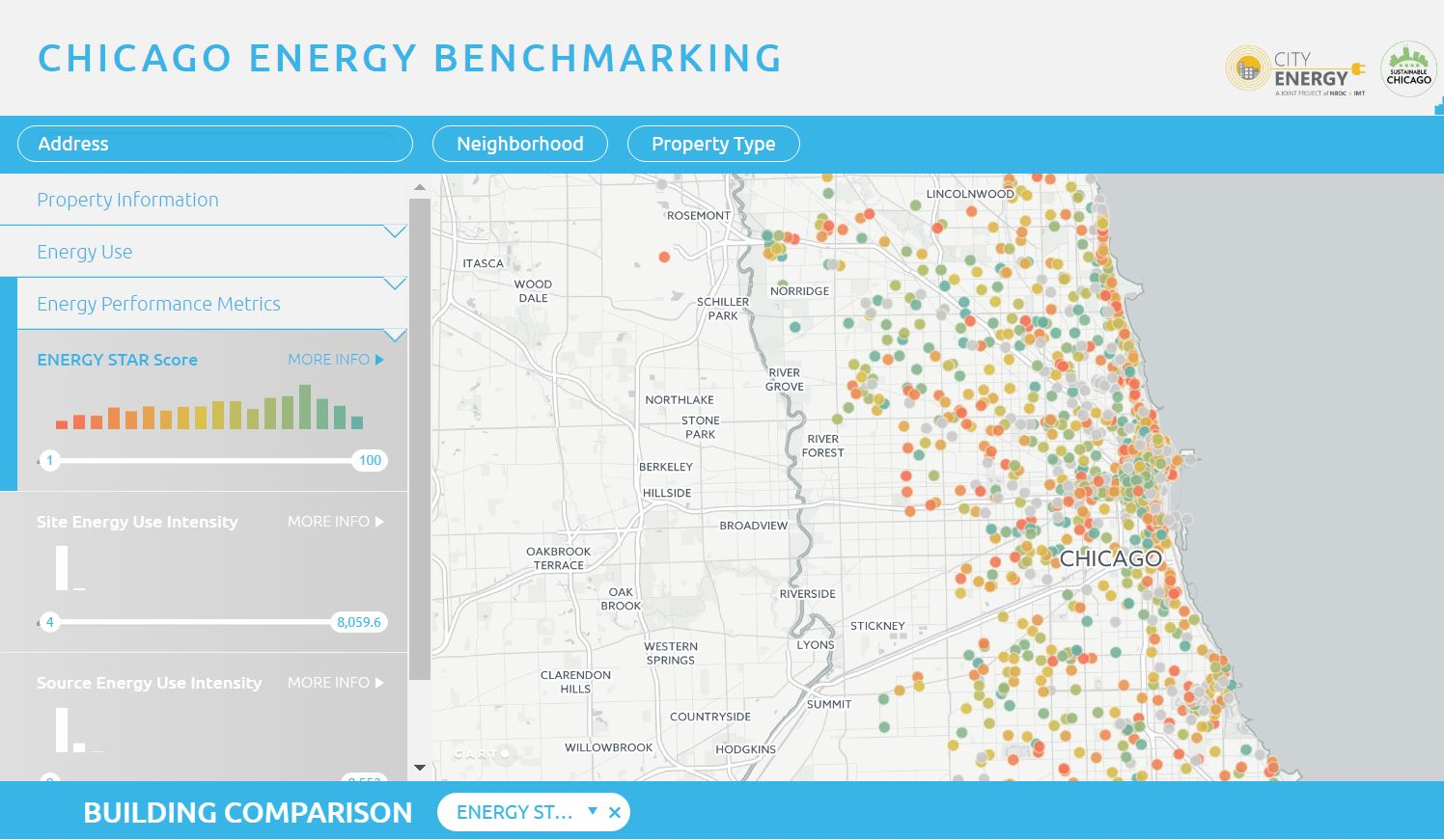 2016 Building Energy Performance Map (City Energy Project)