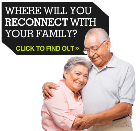 Where will you reconnect with your family?